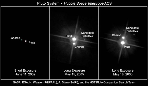 Фото NASA, ESA, H. Weaver (JHU/APL), A. Stern (SwRI), and the Hubble Space Telescope Pluto Companion Search Team