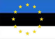 Флаг эстонии и символика еэс коллаж