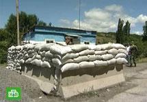 КПП на границе Южной Осетии. Кадр НТВ