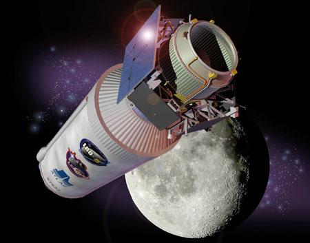 Миссия LCROSS, разгонный блок Centaur. Изображение NASA