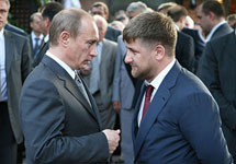 Владимир Путин и Рамзан Кадыров. Фото с сайта www.caucase.wordpress.com