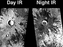 """""""Марс Одиссей"""" наблюдает за Марсом днем и ночью. Фото с сайта BBC News"""