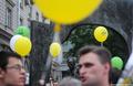 Задержания на Арбате во время прогулки в честь 50-летия Ходорковского. Фото Ники Максимюк/Грани.Ру