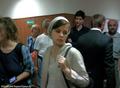 В перерыве суда. Евгения, жена Леонида Ковязина только что получила статус его защитника. Фото Дмитрия Борко/Грани.ру